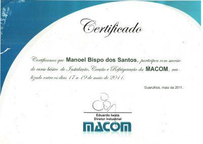Certificado Macom-3